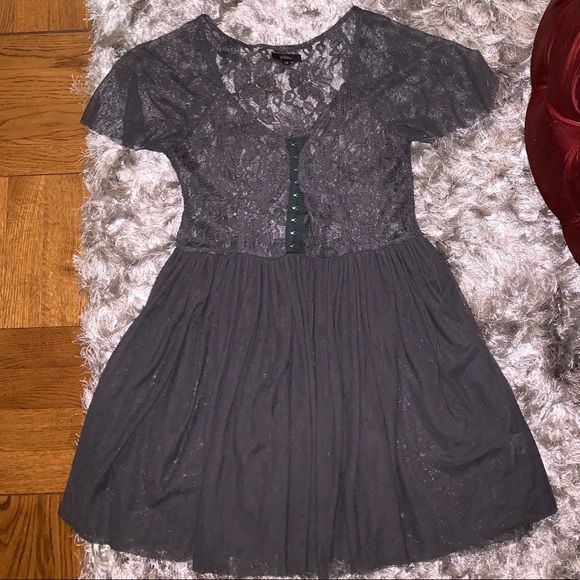 LF Gray Lace Dress